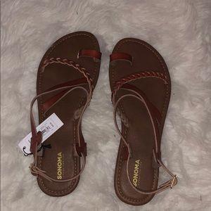 Sonoma brown  gladiator sandals size 9-10